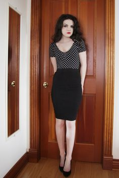 Life In Red Lipstick: OOTD: Dotty