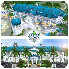Azure Reef & Jungle Resort by estyle36 - The Exchange - Community - The Sims 3