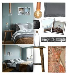 """""""Keep Life Simple"""" by grapecrush ❤ liked on Polyvore featuring interior, interiors, interior design, home, home decor, interior decorating, Bloomingville, Pine Cone Hill, Nude and bedroom"""