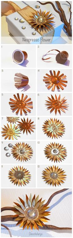 Nespresso Flower Tutorial: