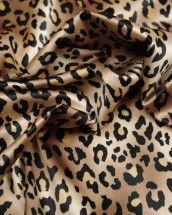 A medium weight polyester and elastane blend satin fabric, featuring leopard print design in classic browns and beige. Satin Fabric, Print Design, Beige, Medium, Classic, Prints, Derby, Classic Books, Ash Beige