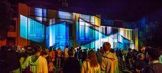 "Genius Loci Weimar 2013 Facade projection festival // Location: Bauhaus University Weimar // RDV Collectif: ""Legacy"" // Photo: www.henry-sowinski.info Genius Loci, Bauhaus, Facade, Sculptures, Fair Grounds, Architecture, University, Weimar, Simple"