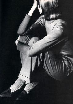 Calvin Klein Footwear, American Vogue, September 1986.