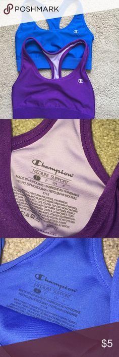 Champion sports bras selling these together!! Lightly worn. Champion Intimates & Sleepwear Bras