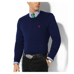 Ralph Lauren Polo Outlet Store Ralph Lauren Darkblue Mesh Round Neck  Sweaters - Advise   The size is a little smaller, You can order one size up  . e2a272fcb75