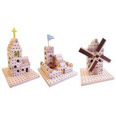 Větrný mlýn jako z Holandska, kostelíček i s hodinami na věži a středověký hrad lze postavit z této sady, která obsahuje 137 dílů. Ale ve skutečnosti sada 3v1 skrývá mnohem více staveb. Stačí, když děti do hry zapojí svoji kreativitu a fantazii a za chvilku budou na světě další krásné a originální stavební díla. Tato jedinečná dřevěná stavebnice obsahuje kostky čtyř velikostí, v každé jsou drážky a díry, díky kterým do sebe krásně zapadají a kolíky se dají zajistit k podložce. Stavba se tím…