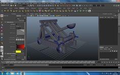 Catapulta 3D Maya