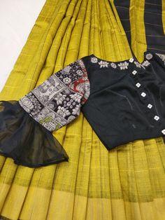 Silk Saree Blouse Designs, Fancy Blouse Designs, Blouse Neck Designs, Stylish Blouse Design, Designer Blouse Patterns, Kurti Designs Party Wear, Lehenga Pattern, Blouse Models, Sarees