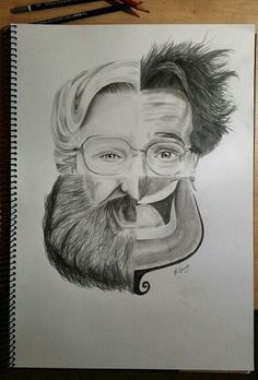 Awesome tribute to Robin Williams! Would make a cool art project/practice with drawing faces