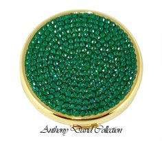 emerald green things | Compact Mirror Crystal Gift Crystal Accessories with Swarovski Crystal ...