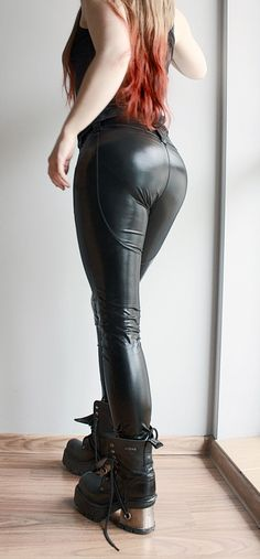 """Wetlook pants made of stretchy textile.--> STRICTLY LIMITED TO A SINGLE PIECE!!! <--Fully handcrafted and one of a kind.Waist: universal (max. stretch: 86 cm - 34"""") Bum: 90 -..."""