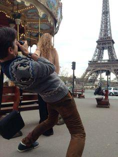 #followmeto Paris. Russian photographer Murad Osmann and his girlfriend Nataly Zakharova.