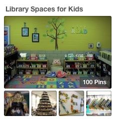 Reading Teachers: Here's a Pinterest board dedicated to neat library spaces for young children. LINK to the board: http://www.pinterest.com/alynknight/