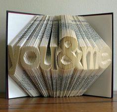 """Plié livre Art Sculpture - papier anniversaire - premier 1er anniversaire-« vous & me""""- meilleur ami cadeau"""
