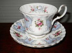 Royal Albert teacup and saucer  ISABEL Love Story Series  Bone China, England