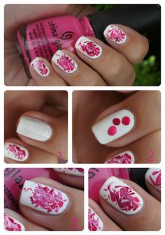 DIY Swirl it nail art