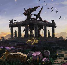 Monument of the pokemon Arceus.