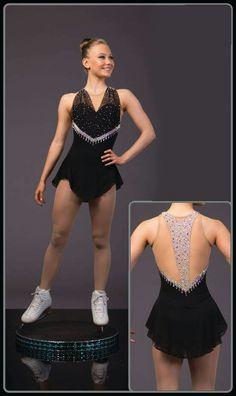 Vestido pelo designer Brad Griffies – collants et dessous Figure Skating Outfits, Figure Skating Costumes, Figure Skating Dresses, Dance Outfits, Dance Dresses, Skate Wear, Dance Costumes, Skater Dress, Designer