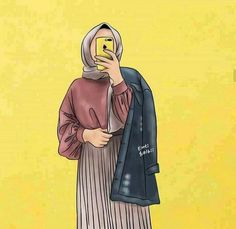 The actual scarf is an essential item inside the apparel of women having hijab. Couple Cartoon, Girl Cartoon, Wallpeper Tumblr, Muslim Couple Photography, Hijab Drawing, Islamic Cartoon, Anime Muslim, Hijab Cartoon, Cute Girl Wallpaper