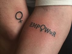 Me & my best friends feminist tattoos