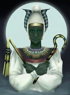 Osiris: Egyptian; counterpart of Isis.  Symbolizes power of death.     Call on Isis and Osiris in situations of great need. Passion: Immortality