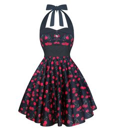 Halter Cherry Rockabilly Dress