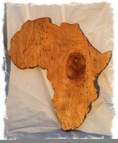 Wooden Africa Wall Art by Sonshinegal on Etsy, $32.00