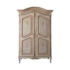 Hand-Painted French Provencal Armoire