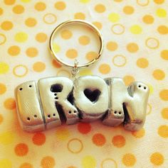 Fairy Tail Solid Script IRON Charm by Snuckledrops on Etsy, $6.00