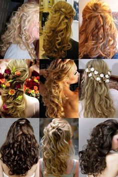 the one with the flowers....wedding hairstyle