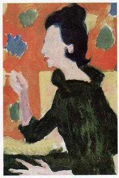 Diana Vreeland portrait by mid-century Vogue illustrator, René Bouché