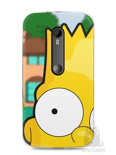 Capa Moto G3 Bart Simpson Face - SmartCases - Acessórios para celulares e tablets :)