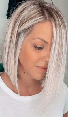 Lob Haircut Thin, Haircuts For Thin Fine Hair, Haircuts With Layers, Bob With Layers, Long Bob Blonde, Blunt Blonde Bob, Blonde Lob With Bangs, Blonde Highlights Bob Haircut, Blonde Bob With Fringe