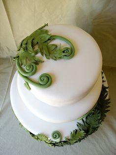SAM-sugar fern wedding cake by ArtisanCakeCompany, via Flickr
