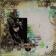 steampunk - Scrapbook.com   Wendy Schultz via Li Er Chang onto Scrapbook Art.