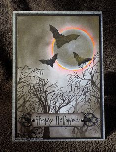 Let's take time... Halloween Paper Crafts, Halloween Prints, Halloween Projects, Halloween Cards, Holidays Halloween, Halloween Scrapbook, Halloween Stuff, Spooky Halloween, Fall Cards