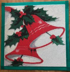 Finished Diamond Painting, Red Christmas Bells , Full Mosaic, Square Rhinestones on Canvas by TheBlushinRose on Etsy Christmas Bells Drawing, New Crafts, Teal Colors, Shades Of Red, Red Christmas, Rhinestones, Mosaic, Art Pieces, Canvas Art