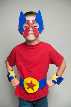 4 Superhero Party Cereal Box Costume Crafts