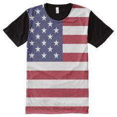 Shop Men's All-Over Printed Panel T-Shirt/American Flag All-Over-Print T-Shirt created by NatureTales. 1950s Jacket Mens, Cargo Jacket Mens, Green Cargo Jacket, Grey Bomber Jacket, Leather Jacket, Stylish Shirts, Cool Shirts, Types Of T Shirts, Vintage Flag