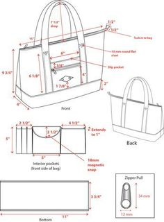 """Half-round style leather duffle bag with technical layout drawingKéptalálat a következőre: """"knit bag technical drawing""""This is a small sample of my work in technical design - by Lisa MoyCADs von Taschen und Geldbörsen, die in Produktion gega Leather Bag Tutorial, Leather Bag Pattern, Leather Duffle Bag, Leather Wallet, Diy Purse, Craft Bags, Leather Bags Handmade, Denim Bag, Fabric Bags"""