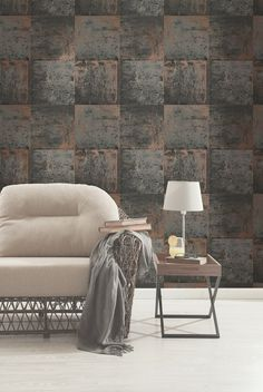 Holden Decor Metal Panel Wallpaper - Copper 65164