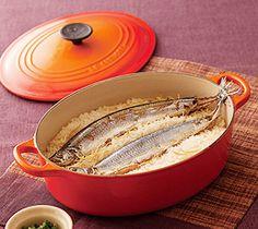 さんまご飯  Sanma gohan Mackerel Recipes, Sweet Cakes, Japanese Food, Cravings, Good Food, Pork, Nihon, Homemade, Meals