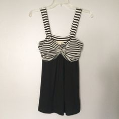 Black Striped Summer Tank Adorable black striped summer tank. Has built-in cups. Super light and flowy material. // Twenty One brand // Sz L // non-smoking home Twenty One Tops Tank Tops