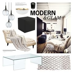 """Modern & Glam"" by emmy ❤ liked on Polyvore featuring interior, interiors, interior design, home, home decor, interior decorating, Universal Lighting and Decor, Currey & Company, Zuo and canvas"