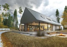 Sheriff Design added a new photo. Modern Barn House, Modern Bungalow, Modern House Design, Self Build Houses, Open Plan Kitchen Living Room, Wooden House, Coastal Homes, Home Fashion, Exterior Design