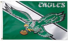 cdcf2d0c6f0 NFL Philadelphia Eagles Throwback Vintage Flag 3x5FT Banner 100D Polyester  flag brass grommets