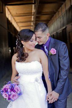 A Purple Rustic Wedding at the Red Horse Barn in Huntington Beach, California