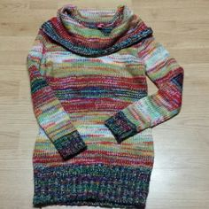 Will only sell in bundle Colorful sparkly sweater BONGO Sweaters Cowl & Turtlenecks