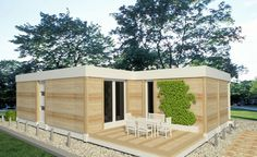 Keep the pace with the alert rhythm of contemporary life with such modular houses which are durable, efficient and, above all, aesthetic. Outdoor Furniture, Outdoor Decor, Fine Dining, My Dream Home, Shed, Outdoor Structures, Contemporary, Houses, Home Decor
