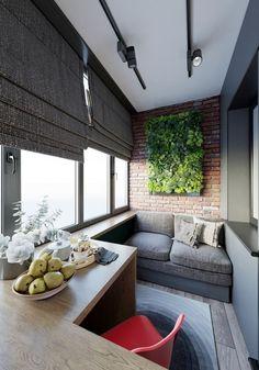 Balcony Green Wall Ideas: Vertical Living Wall - Unique Balcony & Garden Decoration and Easy DIY Ideas Small Balcony Decor, Balcony Design, Condo Living, Living Spaces, Interior Design Living Room, Interior Decorating, Interior And Exterior, Bedroom Decor, House Design